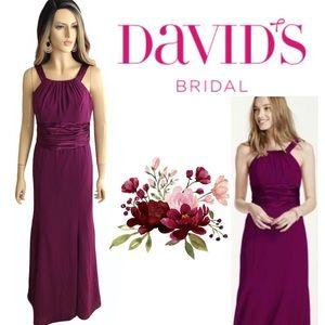 David's Bridal Burgundy Sleeveless Wedding Guest